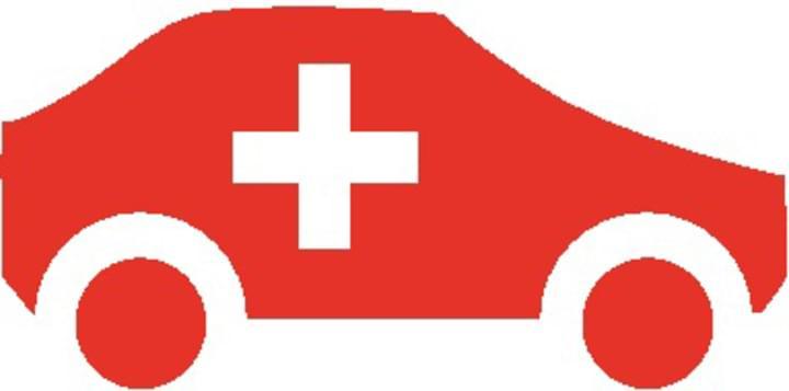 Auto als Schweiz Flagge
