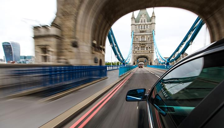 Discovering London by a rental car