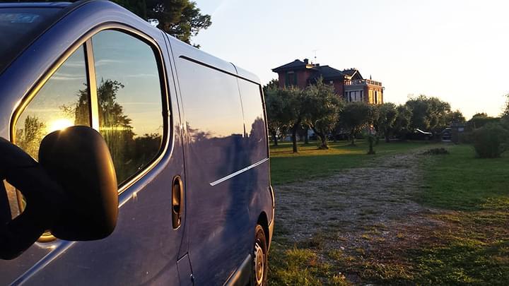 Autobus am Gardasee, Italien