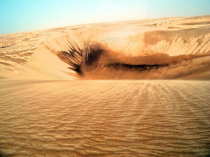 Wahiba Sands: Atemberaubender Ausblick über die Dünen der Wüste