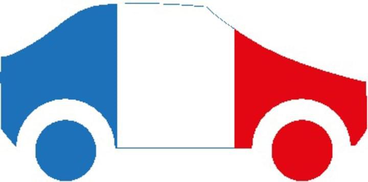 Auto als Frankreich Flagge