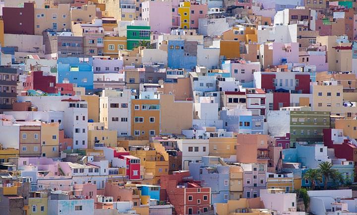 Des maisons colorées dans la vieille ville de Gran Canaria
