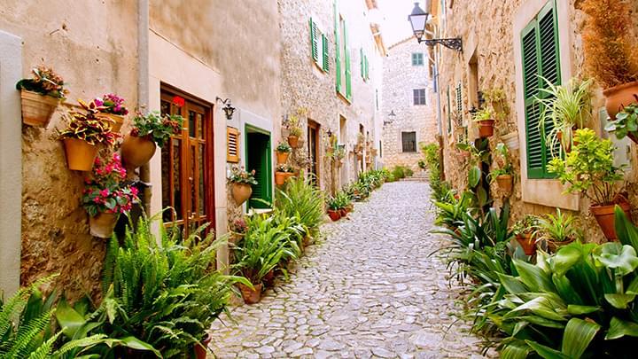 Charmante Gassen in Valldemossa Mallorca
