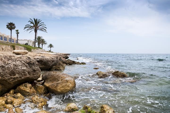 Baix Vinalopó, sea view with rocks