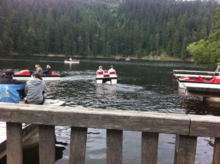 Tretboot fahren am Mummelsee