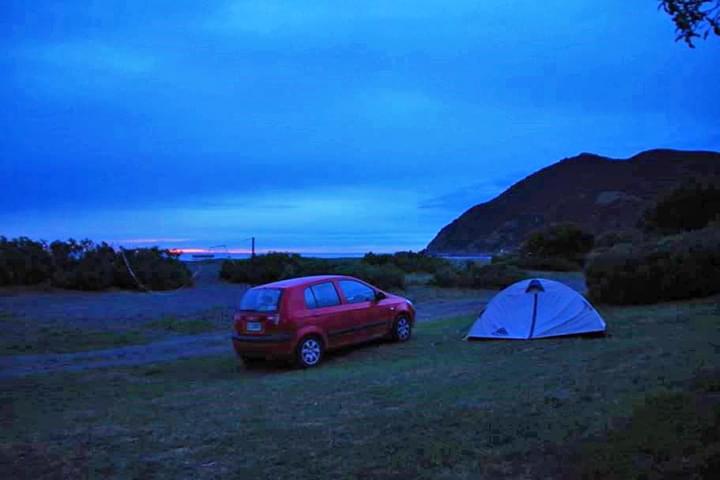 Campen bei Nacht in Neuseland