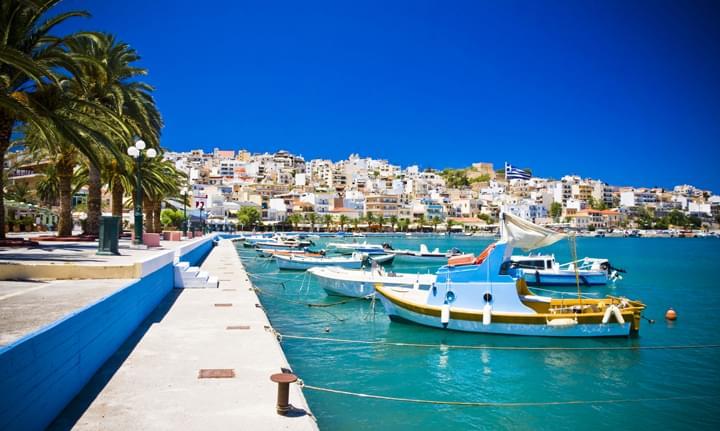 kustplaats Sitia Stad in Griekenland