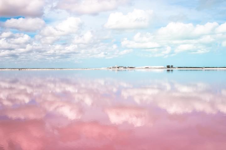 Las Coloradas Lagune in Yucatán