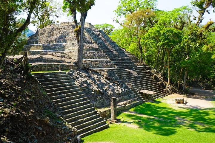 Ruinas mayas en Copán, en Honduras