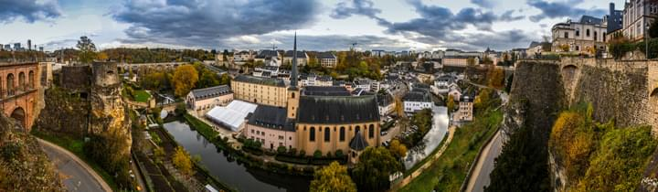 Panoramablick über Luxemburg