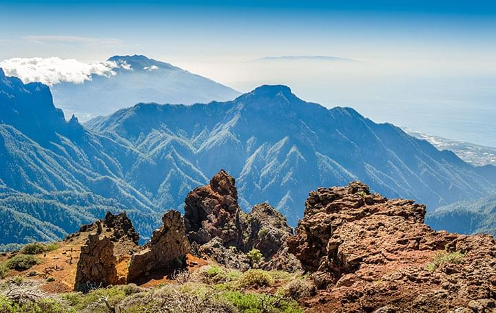 Berg Roque de los Muchachos auf La Palma