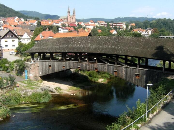Die Forbacher Holzbrücke