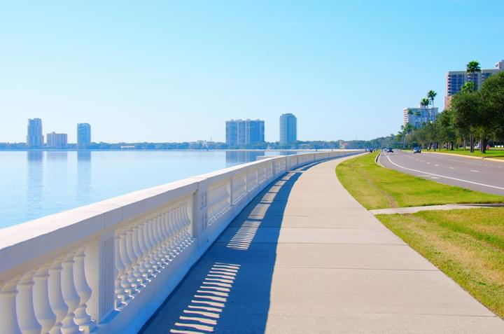 rent a car in tampa and visit bayshore boulevard