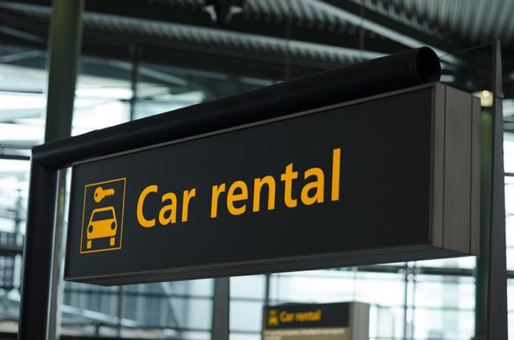 Mietwagen am Flughafen