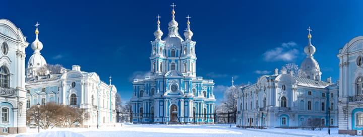 Winter in St. Petersburg, Russia