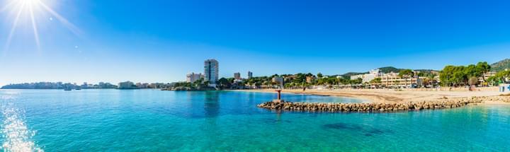 Panorama Blick auf Mallorca