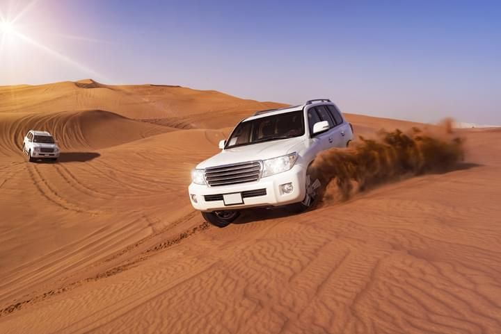Car in the Dubai Desert