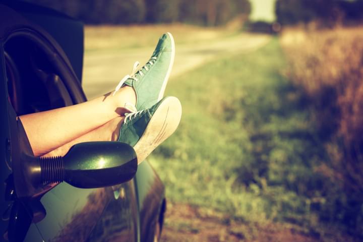 Beine aus dem Auto legen gegen Thrombose