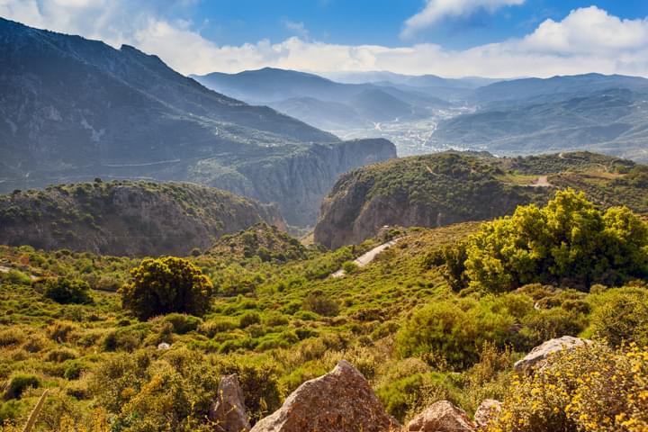 Vista de Lassithi en Creta