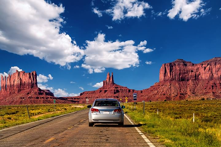 With your rental car through Utah