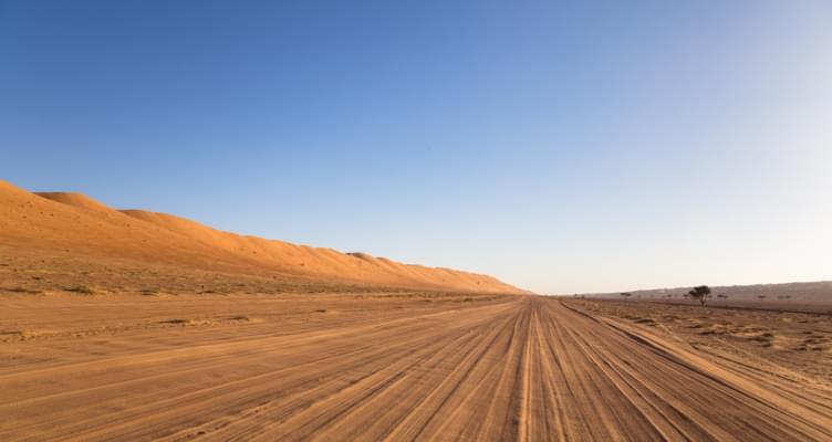 Unterwegs in der Wüste des Oman