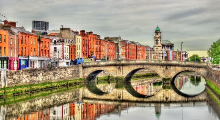 Dublin mit Fluss